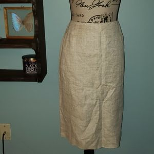 New Dana Buchanan Plus Size Linen Pencil Skirt